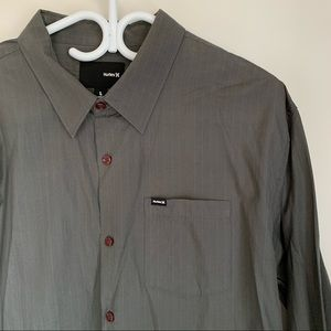 Hurley dressed button down shirt
